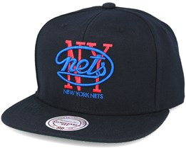 Brooklyn Nets Wool Solid Black Snapback - Mitchell & Ness