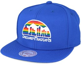 Denver Nuggets Wool Solid/Solid 2 Blue Snapback - Mitchell & Ness
