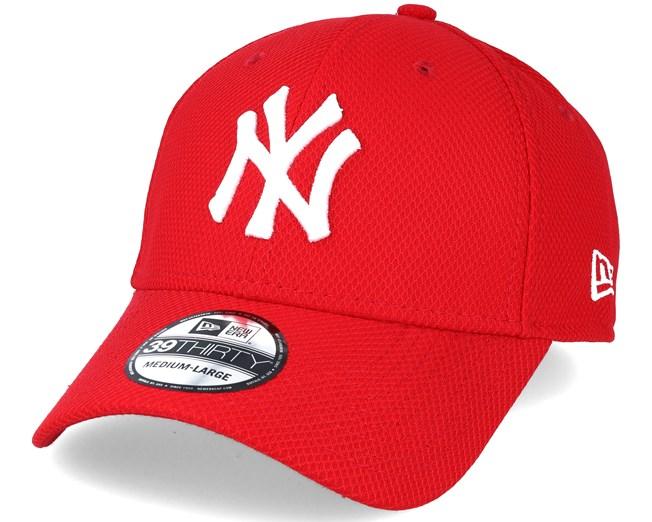 New York Yankees Diamond Ess Red 39thirty Flexfit - New Era caps ... b48e6fe77778