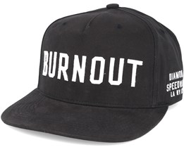 Burnout Black Snapback - Diamond