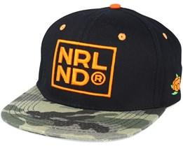 NRLND Black/CAMO Snapback - Sqrtn