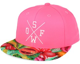 Kids Rexdale Neon 2 Youth Pink/Print Snapback - State of wow