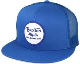 Wheeler Mesh Blue Trucker Snapback - Brixton