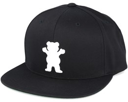 Bear Strapback Black Adjustable - Grizzly
