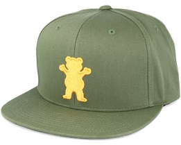 Bear Strapback Olive Adjustable - Grizzly