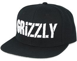 Grizzly Stamp Black Snapback - Grizzly