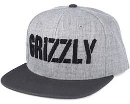Grizzly Stamp  Heather Grey Snapback - Grizzly