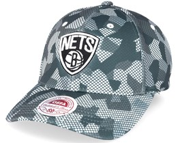 Brooklyn Nets Carbon Camo Slouch Flexfit - Mitchell & Ness