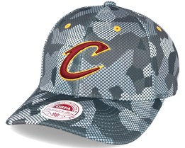 Cleveland Cavaliers Carbon Camo Slouch Flexfit - Mitchell & Ness