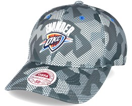Oklahoma City Thunder Carbon Camo Slouch Flexfit - Mitchell & Ness