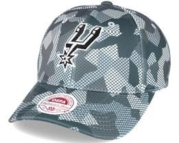 San Antonio Spurs Carbon Camo Slouch Flexfit - Mitchell & Ness