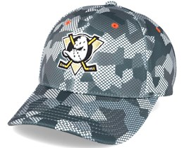 Anaheim Ducks Carbon Camo Slouch Flexfit - Mitchell & Ness