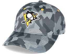 Pittsburgh Penguins Carbon Camo Slouch Flexfit - Mitchell & Ness