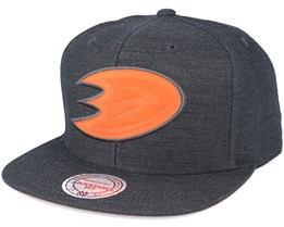 Anaheim Ducks Cut Heather Black Snapback - Mitchell & Ness