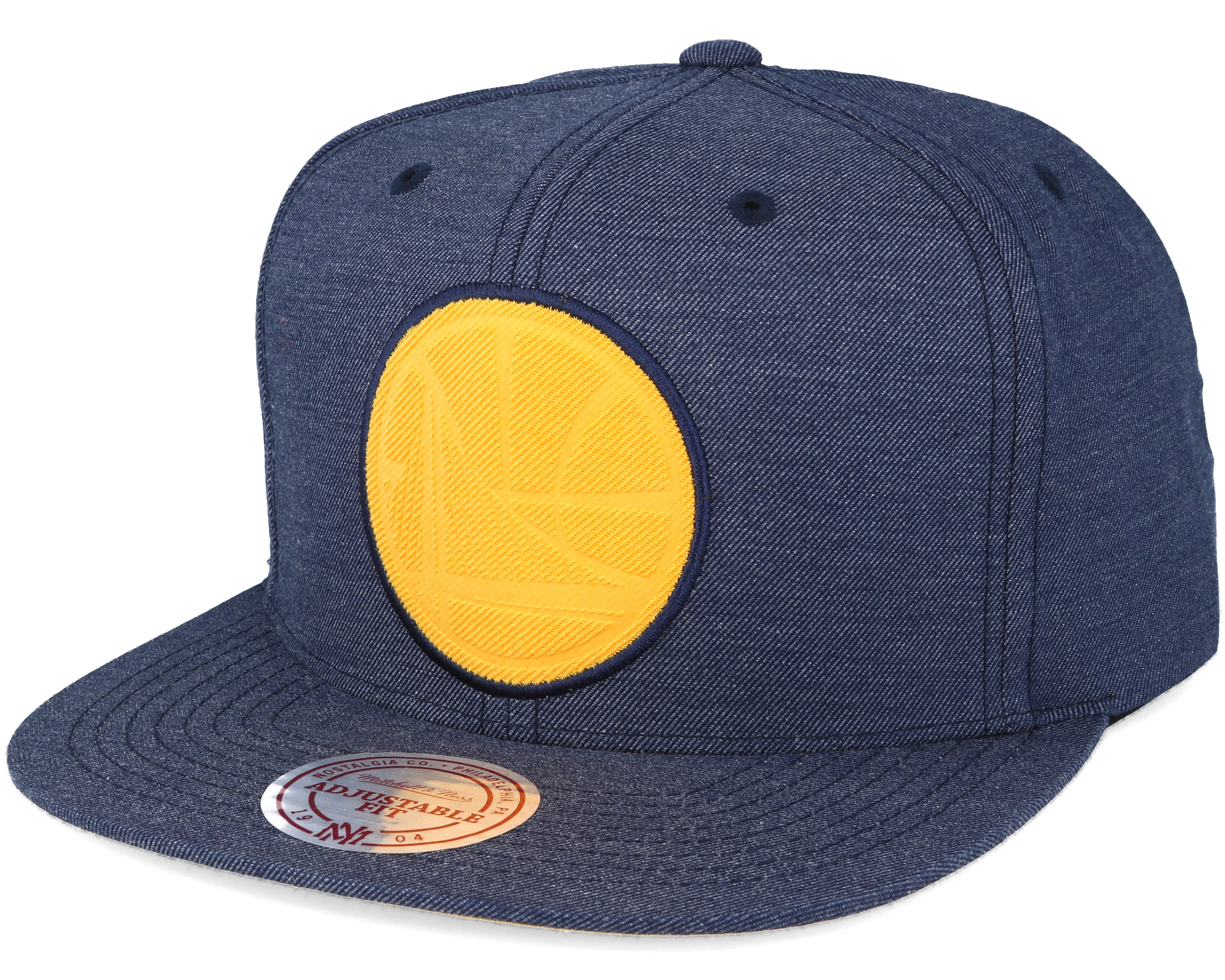 on sale d8a0f e7a94 ... uk golden state warriors cut heather blue snapback mitchell ness bf262  a2ed3