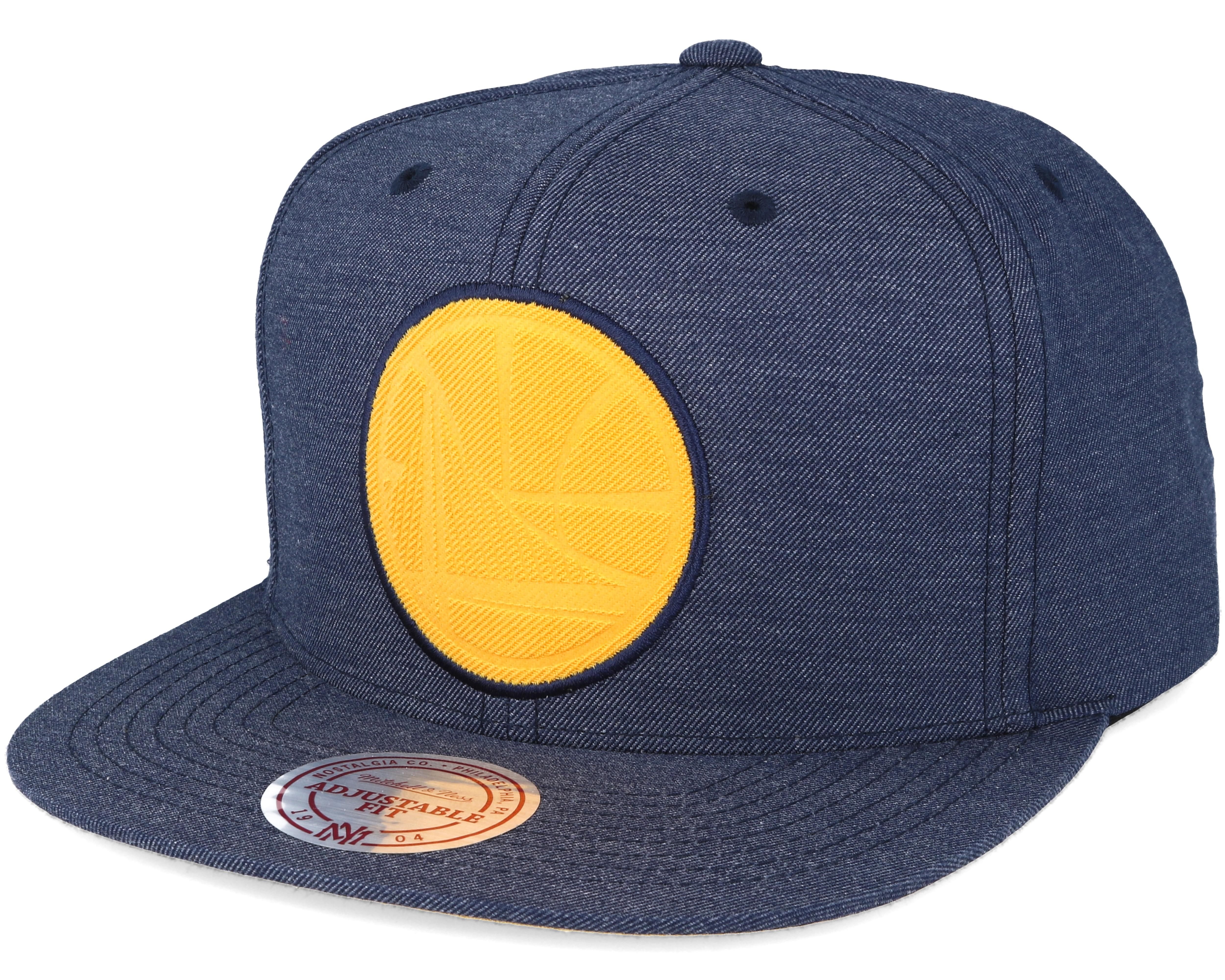 Golden State Warriors Cut Heather Blue Snapback - Mitchell   Ness ... 0513f3ba559