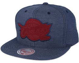 Cleveland Cavaliers Cut Heather Navy Snapback - Mitchell & Ness
