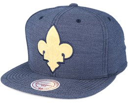 New Orleans Pelicans Cut Heather Navy Snapback - Mitchell & Ness