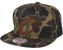 Cleveland Cavaliers Lux Camo Strapback Adjustable - Mitchell & Ness