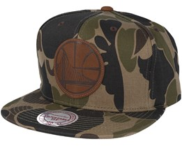 Golden State Warriors Lux Camo Strapback Adjustable - Mitchell & Ness