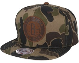 Brooklyn Nets Lux Camo Strapback Adjustable - Mitchell & Ness