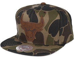 Chicago Bulls Lux Camo Strapback Adjustable - Mitchell & Ness