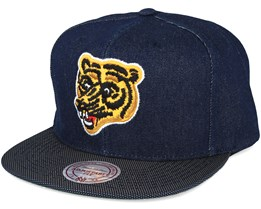 Boston Bruins Raw Denim 3T PU Snapback - Mitchell & Ness