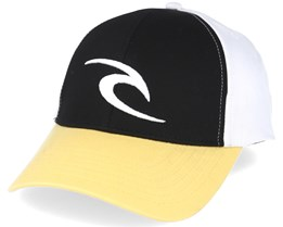 Icon Black/White Snapback - Rip Curl