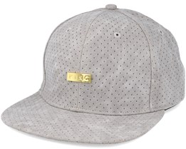 Luxe Pref Crached Leather Grey Snapback - King Apparel