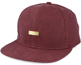 Luxe Pref Crached Leather Red Snapback - King Apparel