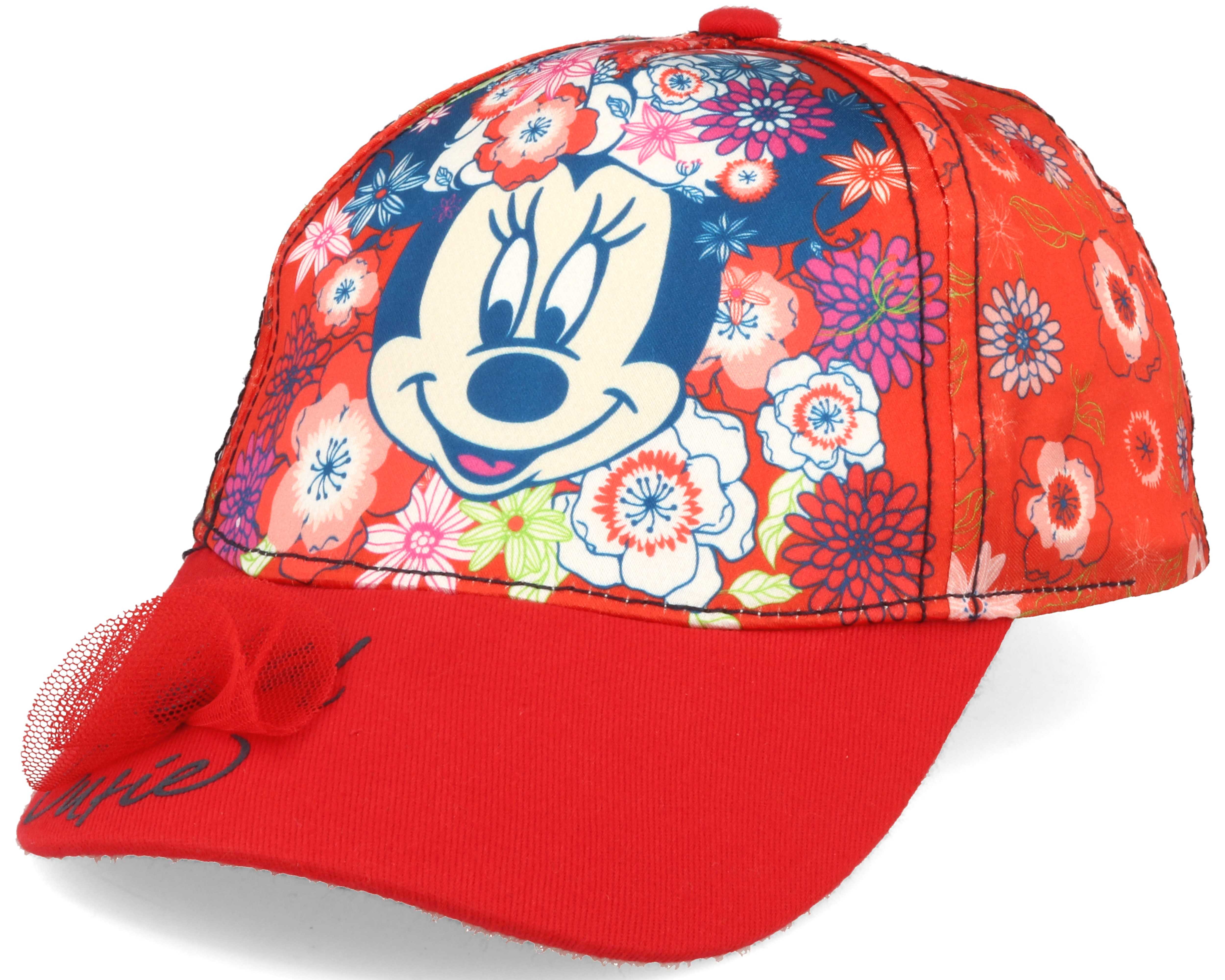 Kids Minnie Disney Multi Red Adjustable Character Caps