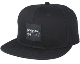 Skate Aid Daily Black Snapback - Neff