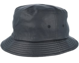 Full leather imitation Black Bucket - Yupoong