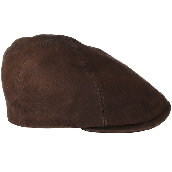 Leather Sixpence Brown Flat Cap - City Sport caps | Hatstore.co.uk