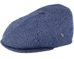 Sixpence Stripe 3X Navy Flat Cap - City Sport