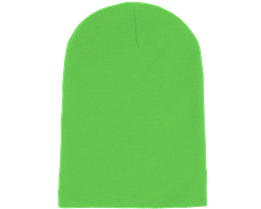 Long Beanie Fluorescent Green  - Beanie Basic