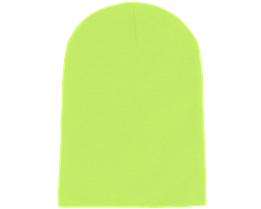 Long Beanie Fluorescent  Yellow - Beanie Basic