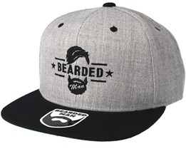 Beard Logo Grey/Black Snapback - Bearded Man