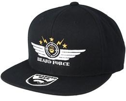 Beard Force Black Snapback - Bearded Man