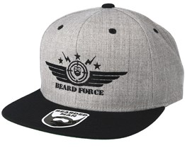 Beard Force Grey/Black Snapback - Bearded Man