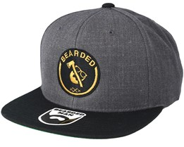Axe Man Charcoal/Black Snapback - Bearded Man