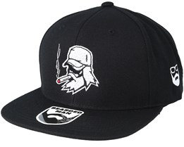 Spike Beard Black Snapback - Bearded Man