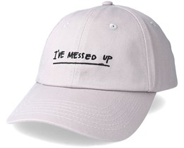 Messed Up Dad Hat Grey/Black Adjustable - Hype