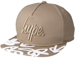 Hand Style Floral Sand/White Snapback - Hype