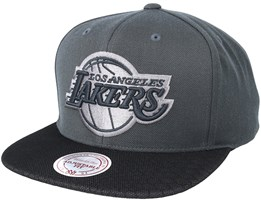 Los Angeles Lakers Hologram Mesh Stop On Dime Charcoal Snapback - Mitchell & Ness