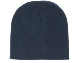 Knitted Short French Navy Beanie - Beanie Basic