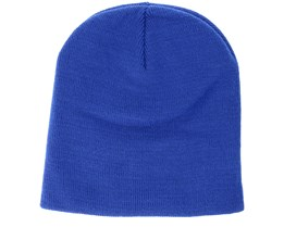 Knitted Short Bright Royal Beanie - Beanie Basic