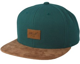 Suede 6-Panel Green Snapback - Reell