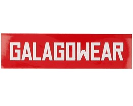 Sticker Logo 4x15 CM  Red - Galagowear