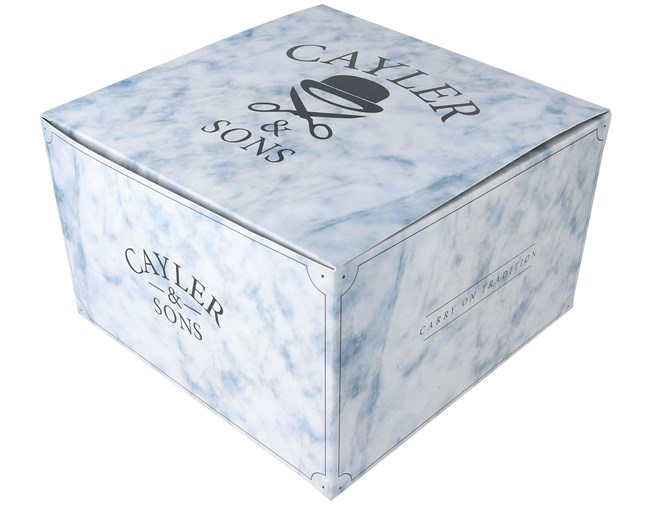 Marble Gift Box 12x20 Cm White Blue Cayler Amp Sons
